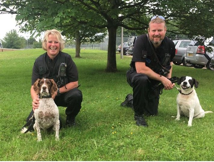, Gloucestershire Constabulary welcome new recruits to dog unit
