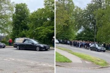 , Mourners line streets of Cam and Dursley to pay respects to Josh Hall